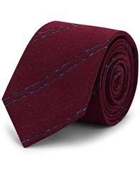 Alexander Olch Striped Textured Silk Necktie
