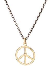 Dean Harris - Peace Sign Pendant Necklace - Lyst