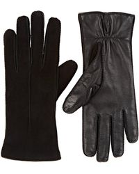 Barneys New York - Suede & Leather Gloves - Lyst