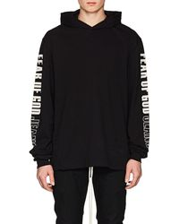 Fear Of God - Oversized Printed Cotton-jersey Hoodie - Lyst