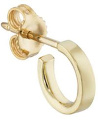 Finn | Yellow Gold Huggie Hoop Earring | Lyst