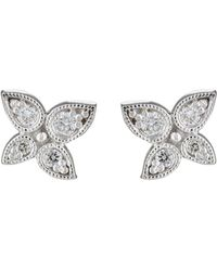 Stone - Whisper Button Studs - Lyst