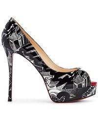 3982519bdb6d Christian Louboutin - Fetish Peep Patent Leather Court Shoes - Lyst