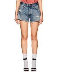 Moussy - Chester Distressed Cutoff Denim Shorts - Lyst