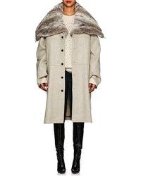 Y. Project - Wool Melton & Faux-fur Convertible Coat - Lyst