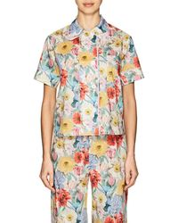Araks - Shelby Floral Cotton Poplin Pajama Top - Lyst