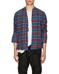 Greg Lauren - Plaid Cotton Flannel Studio Shirt - Lyst