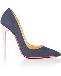 Christian Louboutin - So Kate Denim & Patent Leather Pumps - Lyst