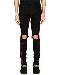 Amiri - Glitter-striped Slim Jeans - Lyst