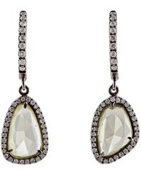 Monique Pean Atelier - White Diamond & Yellow Sapphire Earrings - Lyst