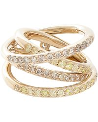 Roberto Marroni - Yellow Diamond, Brown Diamond & Natural White Gold Multi - Lyst