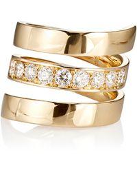 Roberto Marroni - Diamond Spiral Ring - Lyst