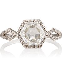 Monique Pean Atelier - Hexagonal White Diamond Ring - Lyst