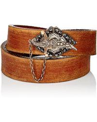 Sevan Biçakci | Diamond & Leather Double-wrap Bracelet | Lyst