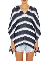 Solid & Striped - The Beach Cape Striped Cotton-blend Terry Poncho - Lyst