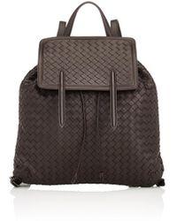 Bottega Veneta - Intrecciato Flap Backpack - Lyst