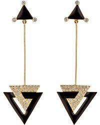 Hanut Singh - Deco Triangle Drop Earrings - Lyst