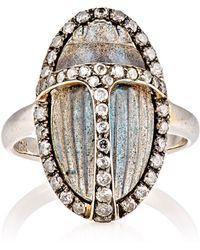 Sidney Garber - Labradorite Scarab-beetle Ring - Lyst