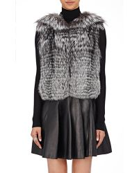 J. Mendel - Fur & Sequined Vest - Lyst