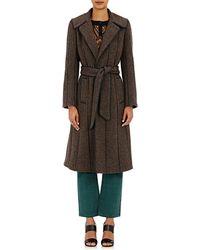 Maison Mayle | Tweed & Leather Coat | Lyst