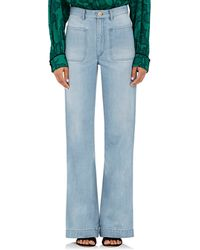 Maison Mayle - Patch Pocket Flared Jeans - Lyst