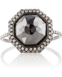 Monique Pean Atelier - White & Black Diamond Ring Size 7 - Lyst