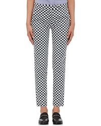 Harvey Faircloth - Checked Twill Trousers - Lyst