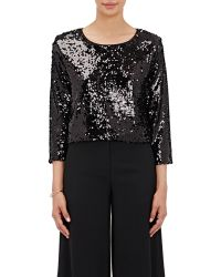 Loyd/Ford - Sequin-embellished Crop Sweater - Lyst