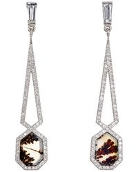 Monique Pean Atelier - Geometric Double-drop Earrings - Lyst
