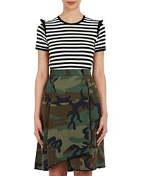 Harvey Faircloth - Ruffle Striped Jersey T - Lyst