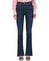 RE/DONE - Elsa Stretch Flared Jeans - Lyst