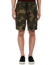 Ovadia And Sons - Tribeca Camouflage Cotton Cargo Shorts - Lyst