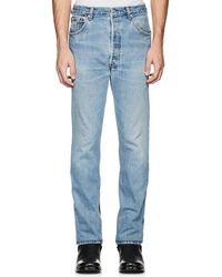 Vetements - Levi's® Denim & Latex Straight Jeans - Lyst