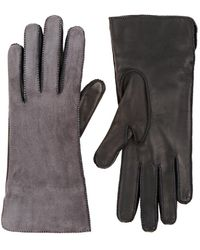 Barneys New York - Suede & Nappa Leather Gloves - Lyst