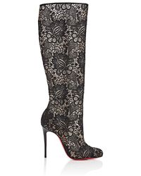 Christian Louboutin - Tennissina Lace Knee Boots - Lyst