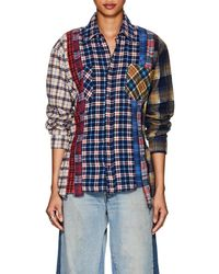 Needles - 7 Cuts Plaid Cotton Flannel Shirt Size 2 - Lyst