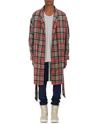 Fear Of God - Plaid Wool Twill Robe - Lyst