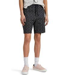 Officine Generale - Geometric-floral Cotton Drawstring Shorts - Lyst