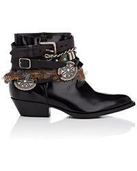 Philosophy Di Lorenzo Serafini - Leather Buckle Ankle Boots - Lyst