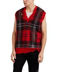 Alexander McQueen - Plaid Mohair-blend Sweatervest - Lyst
