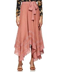 Zimmermann - Swiss Dot Silk Skirt - Lyst