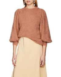 Ulla Johnson - Labelle Brushed Angora-blend Sweater - Lyst