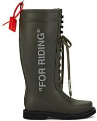 Off-White c/o Virgil Abloh - for Riding Rubber Rainboots - Lyst