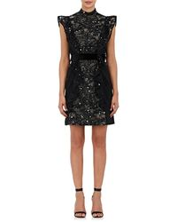 J. Mendel Embellished Silk Sleeveless Sheath Dress