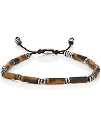 M. Cohen - Tiger's Eye Beaded Bracelet - Lyst