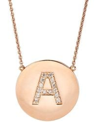 Jennifer Meyer - Initial Pendant Necklace - Lyst