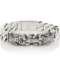Gucci - Tiger Head Bracelet - Lyst