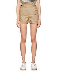Teija - Pleated Cotton Twill Shorts - Lyst