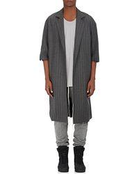 Fear Of God   Striped Wool Twill Topcoat   Lyst