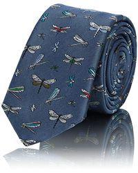 Valentino - Insect-embroidered Silk Twill Necktie - Lyst